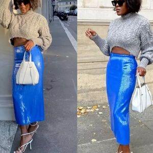 💙 Zara Blue Sequin Skirt 💙